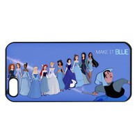 Blue princesses iphone 4 4s case cover
