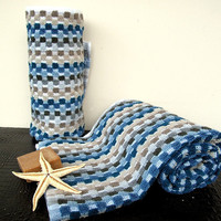 Turkish Towel Set Naturel 100 Cotton Set of 2 by loovee on Etsy