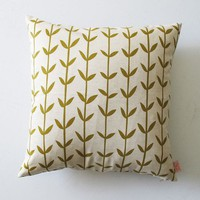 Cushion cover 50x50cm Orla in olive by skinnylaminx on Etsy