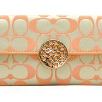 Coach Envelope Style Large Clutch Wallet - Khakhi Peach #46765:Amazon:Clothing