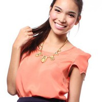 Orange Pixie Cutout Back Top