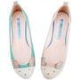 Mint Bunny Motive Ballet Flats