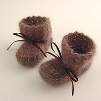 mohair silk booties by nyoki handmade london | notonthehighstreet.com