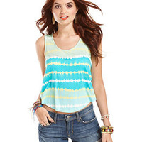 American Rag Juniors Top, Sleeveless Striped Tank - Juniors Tops - Macy's