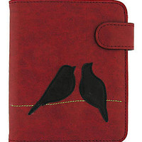 LAVISHY Vegan/Faux leather love birds passport wallet