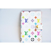 Louis Vuitton White Multicolore Monogram Canvas Card Case