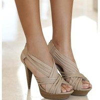Criss Cross Platform Pumps