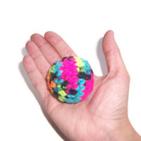5 Neon Balls - Hand crocheted - Great Cat Toys