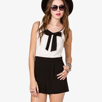Chiffon Bow Lace Romper | FOREVER 21 - 2026299251