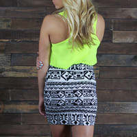 Techno Tribal Mini Skirt
