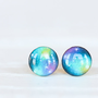 Multicolor Galaxy Post Earrings - Hypoallergenic Studs