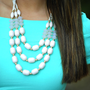 What I Like Necklace: White/Gold | Hope's