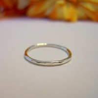 925 Sterling Silver Stacking Hammered Rings
