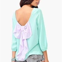 Waldorf Colorblock Blouse - Mint