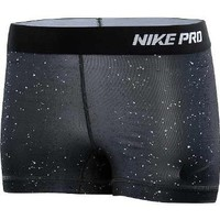 Nike Lady Pro Core II 2.5 Inch Compression Shorts [Black-White] Large