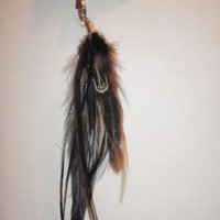 Feather Hair Extension by pheatherism on Etsy