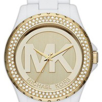 Michael Kors &#x27;Madison&#x27; Crystal Bezel Logo Watch, 42mm | Nordstrom