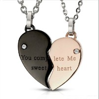 Heart Shape Necklace for Couple