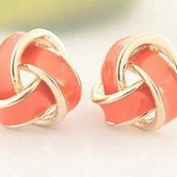 Cute Gold Orange Earrings