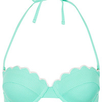 Mint Scallop Bikini Top - Topshop USA