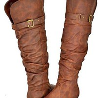 Amazon.com: Blossom Firenze-9 Cognac Women Over The Knee Boots, 5.5 M US: Shoes