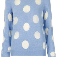 Knitted Sheer Solid Spot Sweat - New In This Week - New In - Topshop USA