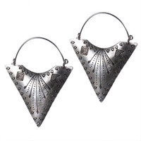 Other Earrings, Stamped Triangle