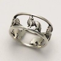 Amazon.com: Open Wolf Ring: Clothing
