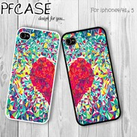 Twin love cases : Handmade case For Iphone 4/4s ,5