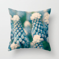Muscari Field © Throw Pillow by JUSTART