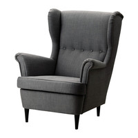 STRANDMON Wing chair, Svanby gray - Svanby gray - IKEA