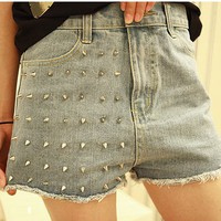 Rivet Jeans Shorts