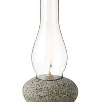 HURRICANE OIL LAMP | Stone Oil Lamp, Rocks from New England | UncommonGoods