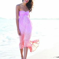 Rajasthan Strapless sweetheart dress in sunset - SOLD OUT