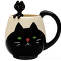 BLACK CAT MUG &amp;amp; SPOON SET