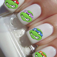 Ninja Turtle Nail Decals