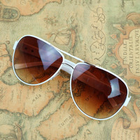 White Frame Sunglasses for Summer