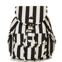 Stripe Denim Backpack - Topshop