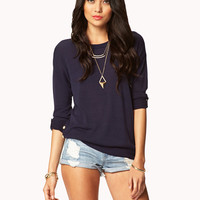 Essential Buttoned Vent Sweater | FOREVER21 - 2026139314