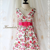 Miss Floral III - Sweet Gorgeous Spring Summer Balloon Sundress Floral Print All Over Sexy Party Beach Dress