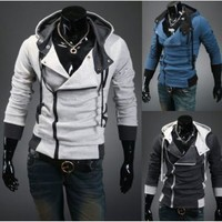 New Assassin&#x27;s Creed 3 Desmond Miles Hoodie Costume Coat Jacket Cosplay Hoody (Please email us your SIZE and Color M/L/XL/XXL)