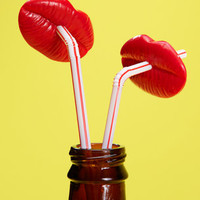 Luscious Lips Straw Set