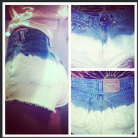Ombré Levi shorts  by AngeliqueMerici on Etsy
