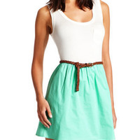 Charlotte Russe - Belted Pocket Tank Dress