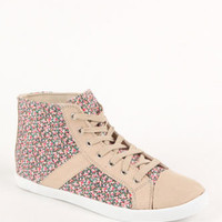 Black Poppy Floral High Top Sneakers at PacSun.com