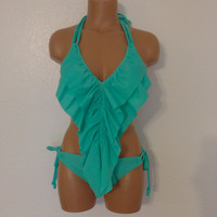 Seashore long ruffle bikini