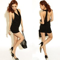 Krazy Sexy Club Cocktail Party Evening Dress #103 Black