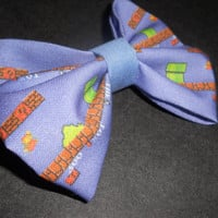Super Mario Bros old school nintendo inspired Hair Bow or Bow Tie