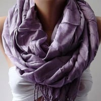 Lilac Silk Shawl / Scarf Pareo by womann on Etsy
