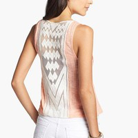 Elodie Crochet Appliqu Tank (Juniors) | Nordstrom